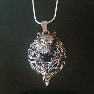 Jewelry - Wolf Necklace on Sterling Silver Chain NEW